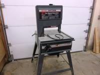 "Craftsman 12"" (2) speed band saw; 1.8 hp includes extra"