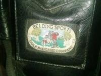 I have a Belding Sports all leather Black golf bag with