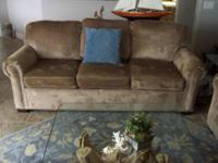 Up for Sale are matching Sofa and Love Seat. Chenille