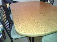 6 CHAIRS EXCELLENT CONDITION DINING ROOM TABLE JUST FOR