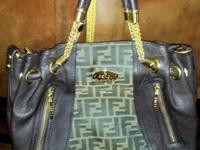 EXCELLENT Faux FENDI Monogram Patent Leather