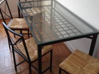 I am selling an Ikea Granas dining table, along with 4