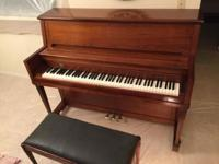This good studio upright piano has simply been tuned.