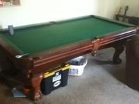 Nice large pool table, 7 foot from inside lip to inside