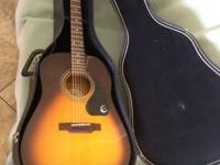 Excellent shape Acoustic Epiphone Guitar and Case.