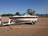 18' open bow, excellent condition for it age, 305 Chevy