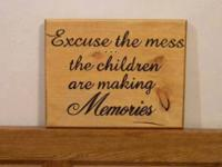 Reason the mess - in stock Hand crafted. Price: $20.00