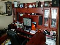 Solid wood executive desk for sale. In excellent