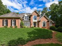 Amazing executive home is in Sandy Springs. Two story