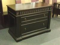 Executive Filing Cabinet --- ALL WOOD --- Dovetail