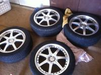 "For sale are Four (4) Exel 17x7.5"" universal 5 lug rims"