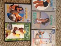 There are 4 exercise ball DVDs and a Billy's Bootcamp