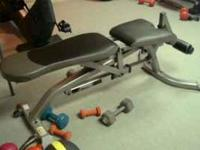 One Fitness Gear Weight Bench. Black and gray,