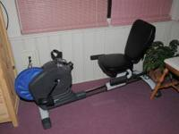 Lifestyle RF 545 exercise bike, has knob that ajust how