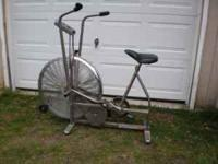 Schwinn Airdyne exercise bike. Extra seat and book rest