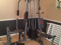 Home Gym, Elliptical Machine & Weight Bench. Excellent