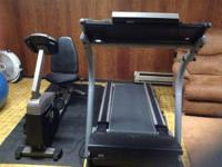 Nordic Trac treadmill, 10 years old, inclines, folds