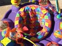 I have a nice purple exersaucer for sale!..good