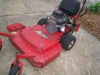 "Exmark 36"" cut, 12.5 hp. Kawasaki engine. about 30 hrs"