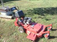 VERY good mower till the motor gave out! 36 in cut,