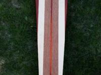 Exotic wood hand-crafted longboard. This is the first