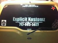 Explicit Kustomz. Complete detail shop, plasti-dip
