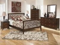 ASHLEY ALL WOOD BEDROOM! expresso finish