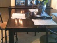 Exressso bar height table with lazy susan for sale.