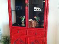 Exquisite Chinese Cinnabar Display cabinets with all