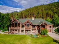 This exquisite log home incorporates some of the finest