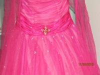 Size 3/14 pink formal gown with jeweled