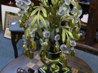 Gorgeous, intricate lamp on marble base. Lamp is 19.5""