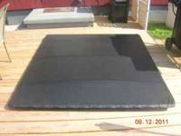 Extang tonneau cover for use with an existing tool box.