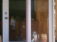 Used Exterior French Door with Screen Door and door