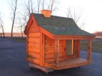 For sale: Extra Large, cedar log cabin dog house