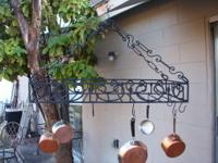 Extra Large French Style Wrought Iron Pot Rack - Has
