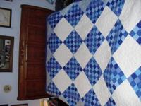 Gorgeous China Blue delight quilt is made from the