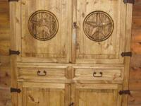 "THIS ARMOIRE IS 54"" WIDE X 76"" TALL AND 25"" DEEP. THE"