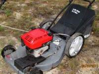 SEARS EZ BIG WHEEL PUSH MOWER WITH GRASS CATCHING BAG -