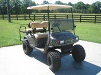 E-Z GO Textron Electric Golf Cart Dipped Mossy Oak