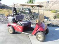 This is a beautiful EZ-GO 32v golf cart. Batteries are