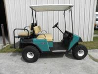 EZ GO ELECTRIC GOLF CART WITH CHARGER; LIFT KIT; BIG