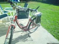 this is a ezip electric 7 speed bycicle.  set up
