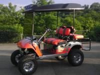 Like new EZGO PDS Golf Cart Custom Paint Chrome ITP