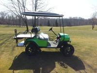 2007 gas lifted Ezgo golf cart New Lime green body with