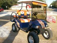 WOW take a look at this Exceptional Auburn golf cart be