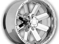 I have 4 incubus 17 inch off road rims chrome. 6 lugs