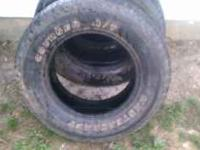 mastercraft courser a/t p265/70r17. only 3 tires good