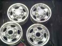 set of 03 f250 wheels off a 03 f250 lariat fx4.. askin