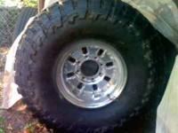 New 16x10 inch rims with New 38x14.50 inch Toyo mud